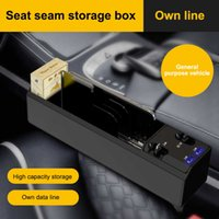 New Car Organizer With Charger Cable Seat Gap Storage Box for IOS Android Type C Dual USB Port Auto Stowing Tidying