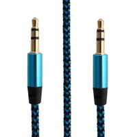 Regular 3.5mm Braided Audio Cables Car Aux Cord Coloful 1m 3t Cable