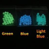 4mm 5mm 6mm 8mm 10mm quartzo terp de pérolas bolas luminous azul brilhante verde pérola de quartzo para quartzo banger unhas de vidro bongs ewc6233