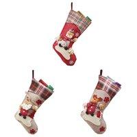 Christmas Decorations Gift Socks Plush Elk With Lanyard Tree Decoration Home