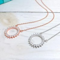 Pendant Necklaces KT Real925 Bracelets 1:1 LOGO High Quality Shining Circle TIF Luxury Jewelry Brand Woman 2021 Selling Trend