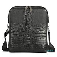 Man Vertical Genuine Leather Crocodile bag Men Messenger briefcase Business Designer Shoulder Bags High Quality Leisure Handbags