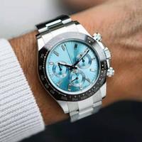 Erkekler Orologio Di Erkek İzle Chronograph VK Quarz Hareketi Tarihi Pat Rizzi 6 Gün Mekanik Çelik Solo İzle Master Saatler Saatı