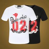 2021 Mens t shirt fashion personalized Men women Design T-shirts Female high quality tees black and white Man Clothing Street Designer Shorts Sleeve *55