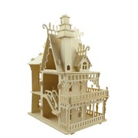 Victorian Dollhouse Toys Fantasy Villa 3D Puzzle DIY Scale Models And Building For Adult Factory Price WHolesale Order
