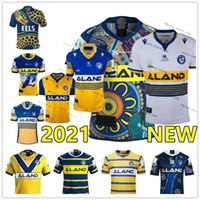 2021 Branco Amarelo Parramatta Enguias Rugby Jerseys 19 Francês Alvaro Gower Evans Pritchardniukore Terepo Marrom Mannah Moeroa Norman Hoffman Camisas