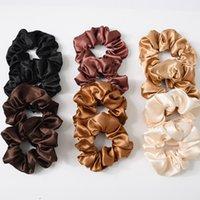 Scrunchies Hairbands Bandas Sólidas Bandas Grandes Intestinas Laços Ropes Meninas Titular De Cabelo Acessórios 6 Designs M2419