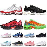 Nike أحذية Air Max Plus Tn Max Air Plus tn Plus Stock x حجم كبير أمريكي 12 احذية رجالية مصممو لوكسوريس جامعة وايت بلاك فولت ريد احذية المتدربين الرياضية