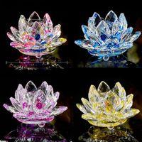 Kristall Lotus Kerzenhalter Glas Blume Kerze Tee Licht Halter 30mm Innendurchmesser Teelicht Buddhist Kerzenständer Dekor