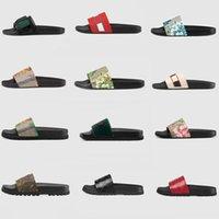 2021 Мужские дизайнеры Slides Womens Sandals Flip Plops Женщины Сандалия Цветочные Брокад Человек Таппер Плоские Нижние днища Полосатый пляж Повседневная Наружная платформа Ловики Обувь