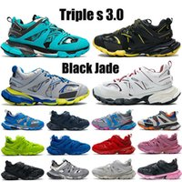 2021 Top Triple S 3 .0 Chaussures de course Noir Jade Blanc Jaune Jaune Jaune Navier Royal Grey Trainer Lime Hommes Femmes Sneakers US 6 -12