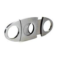 Paslanmaz Çelik Puro Kesici Bıçak Taşınabilir Küçük Çift Bıçakları Puro Makas Metal Kesim Puro Cihazları Araçları Sigara Aksesuarları KKB5179