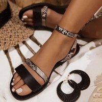 Slippers Summer Women's Sandals 2021 Fashion Rhinestone Fat Bottom Female Clip Toe Shoes Outdoor Beach Ladies Sandal Woman