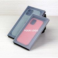 Personalisierte benutzerdefinierte kraftpapier verpackung faltbare slide schubladenbox für iphone 13 pro max max max telefon schlanke case abdeckung mit universal größe as07