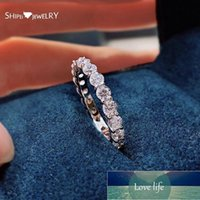 Shipei 100% 925 Sterling Silver Created Moissanite Diamonds Gemstone Fine Jewelry Wedding Band Fashion Ring For Women Wholesale Cluster Ring Factory price expert