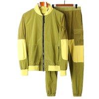 Primavera y otoño New Casual Hombre Nylon Chaqueta de moda Trend Chaqueta de alta calidad Stitching Secado rápido Thinkromes