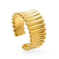 VAROLE Art Curved Minimalist Finger Rings For Women Gold Color Ring Anillos Mujer Fashion Jewelry Accessories Gifts