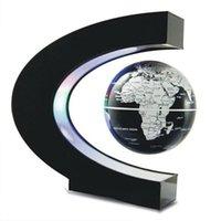 Yenilik Aydınlatma C şekli Gece Işıkları LED Dünya Haritası Yüzer Küre Manyetik Levitasyon Şamandıra Kurşun Işık Antigravite Sihirli Kapalı Çocuk Ev Doğum Günü Aralık
