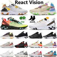 Nike React Vision Element 55 87 chaussures de course pour homme femme noire Irisé Gravity Purple Pastel baskets de sport de créateurs Hues