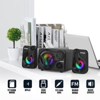 Mini altavoces SMALODY YXSM8030 BT USB Powered 3.5mm Altavoz alámbrico 20W Super Bass SoundBox Colorido LED Lights TF Tarjeta Slot