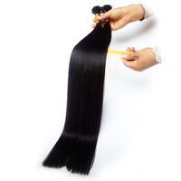 2021 я наконечник человеческих волос наращивание волос 1b натуральный черный цвет кутикулы выровнен волосы 28 дюймов 100 г 100strands VIP эксклюзивная настройка