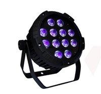 6 unids DMX DJ Wedding RGBWA PAR LED Slim Uplighter 12x15W LED 5 IN1 RGBAW PAR luz
