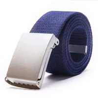 Fashion Plain polyester Webbing Boy chastity belt with metal buckle customized Casual mens Canvas Belts