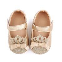 Teletuny Обувь для Baby Newborn Modyler Дети Девушки Симпатичные PU Crown Кожаные Обувь Мягкая подошва HookLoop Первый Ходьба Принцесса