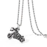 Pingente colares ghost cavaleiro colar motocicleta motorbike autobikike esqueleto cilânio costela vintage punk gótico moda jóias