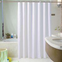 Rideau de douche personnalisée Hôtel Rideaux de salle de bain imperméable et moisissure épais baignoire solide grande couverture de bain large 12 crochets DHD7315