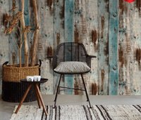 Wallpaper 17.7 inch*236.2 inch Self-Adhesive Removable Wood Peel and Stick Decorative Wall Covering Vintage Panel Interior Film Retro industrial style