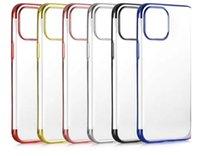 Electroplato cromado Bling Metálico de platillo transparente TPU para iPhone 12 Mini Pro 11 Pro MAX XS X XR 8 7 6 PLUS