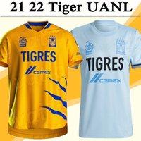 2021 2022 Tigres Uanl Erkek Futbol Formaları Gignac Pizarro Quinones Ev Futbol Gömlek F.Thauvin Rodriguez Duenas Ortega Kısa Kollu