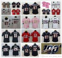 100th Women Youth Kids StitchedPatriotFootball Jersey cosido 12 TomBrady 11 Julianedelman 87 Robgronkowski 26 Sondeymichel Shirt