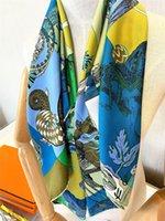 الجملة شيك سيدة الأوشحة تصميم طباعة جميلة أزياء المرأة أكسسوارات وشاح مربع وشالات يلف حجاب باندانا الحجاب منديل