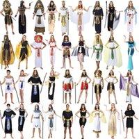 Yetişkin Prens Sahne Giysileri Cadılar Bayramı Tema Cosplay Kostüm Antik Roma Kraliçe Prenses Ulusal Giyim Mısır Firavun Giyim 06