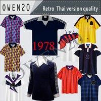 78 82 1986 1995 Escócia Retro Soccer Jersey Copa do Mundo Equipamentos Home Blue Kits 1996 1998 Clássico Vintage Escócia Retro Football Tops