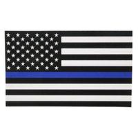직사각형 푸른 삶은 사안 경찰 미국 미국 얇은 파란색 라인 플래그 자동차 데칼 스티커 새로운