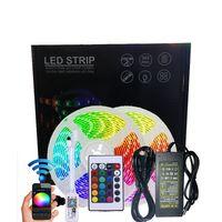 Waterproof Smart WiFi Led Strip Light 5050 RGB 44 Tasti Telecomando Alexa Google Controllo vocale Musica TV Retroilluminazione TV 3528 RGB Lampada 5m 10m