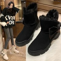 Women's Mid-Calf Winter Boots Platform Waterproof Shoes For Woman Female Snow Ladies Women Big Size Botas Mujer b0TT#