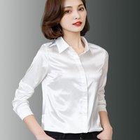 Frauen Blusen Hemden DFRCaeg plus Größe Frauen Kleidung 2021 Mode Bluse Langarm Blusa Feminina Spring Slim 7 Farben Tops