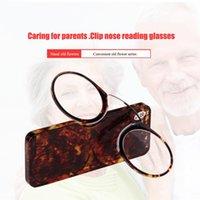 Vetri di lettura del naso che riposano +1,0 a +3.5 Clip del lettore del portafoglio SOS portatile su mini occhiali da lettura con prescrizione del caso