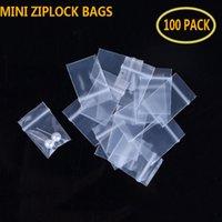 100 шт. Четкие пластиковые мини-молнии ювелирные изделия сумки маленькие более толстые кристаллические упаковочные пакеты многоразовые почета молния замок молнии