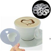 Cafe Foam Spray Template Barista Stencils Decoratie Tool Fancy Mold Plastic 12pcs / Set Koffie Afdrukken Bloem Model HWE10380