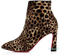 Известный зимний ковбой ботинок элегантный элегантный Eleonor Plume лодыжки Zip Spike красные нижние дыни сапоги женские замшевые кожи подошвы моды пинетки 7700