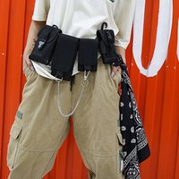 Hbp homens bag bag tático bolsa de cintura multi-bolso bolsas de ombro hip hop pequeno telefone bolsa de telefone rua moda fanny pack unisex