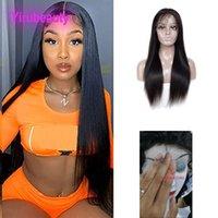 Malaysian Virgin Human Hair HD 13X4 Lace Front Wigs Deep Wave 180% Density Wig Free Part Adjustable Band Natural Color 10-38inch