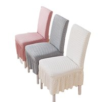 Chair Covers All-inclusive Universal Cover Solid Color Elastic Skirt Style Household One-piece Dining Table And Stool