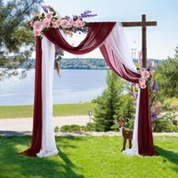 Party Decoration Wedding Arch Draping Fabric Chiffon Drapery Decorations For Ceremony Archway Ceiling Backdrop