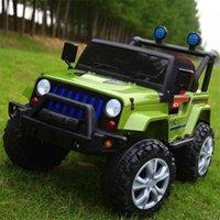 Veículo elétrico infantil de quatro rodas dupla controle remoto meninos e meninas carregador carrinho de bebê carro de brinquedo infantil pode sentar-se